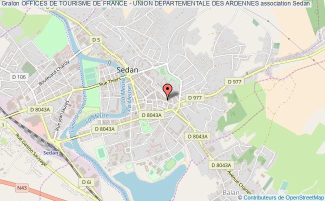 plan association Offices De Tourisme De France - Union Departementale Des Ardennes