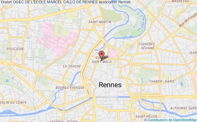 plan association Ogec De L'ecole Marcel Callo De Rennes
