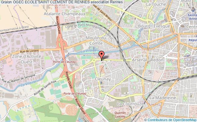 plan association Ogec Ecole Saint Clement De Rennes