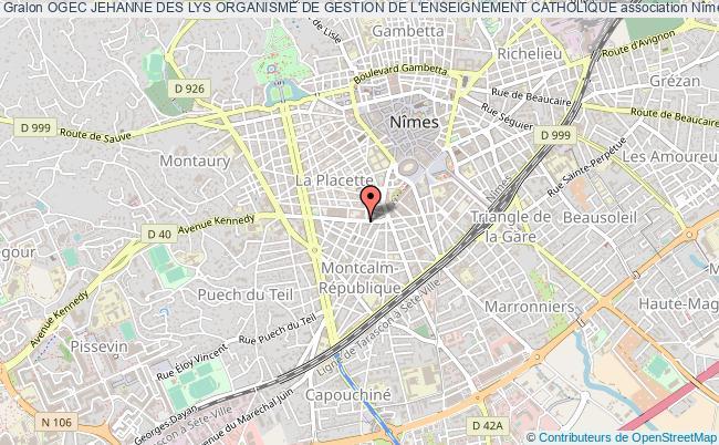 plan association Ogec Jehanne Des Lys Organisme De Gestion De L'enseignement Catholique Nîmes