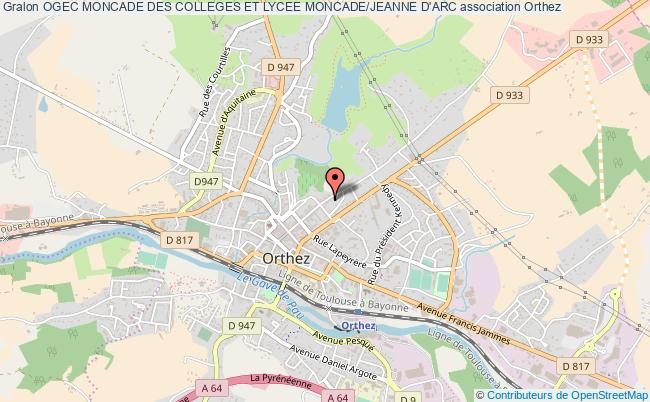 plan association Ogec Moncade Des Colleges Et Lycee Moncade/jeanne D'arc