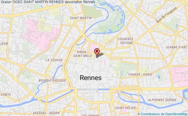 plan association Ogec Saint Martin Rennes