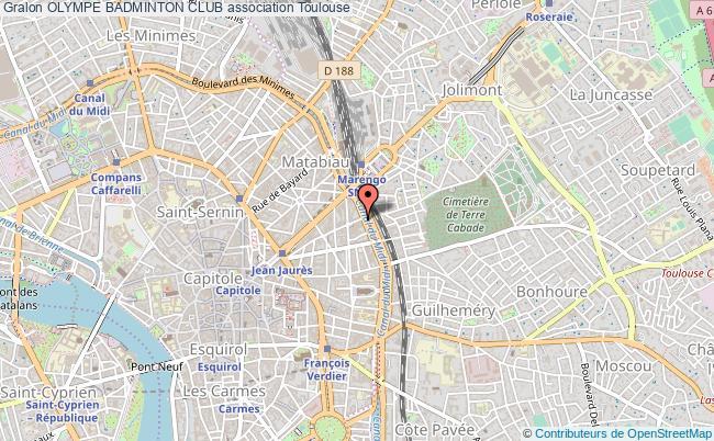 plan association Olympe Badminton Club