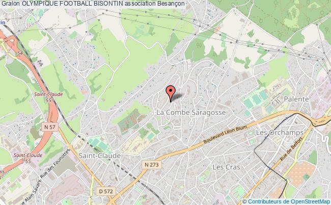 plan association Olympique Football Bisontin
