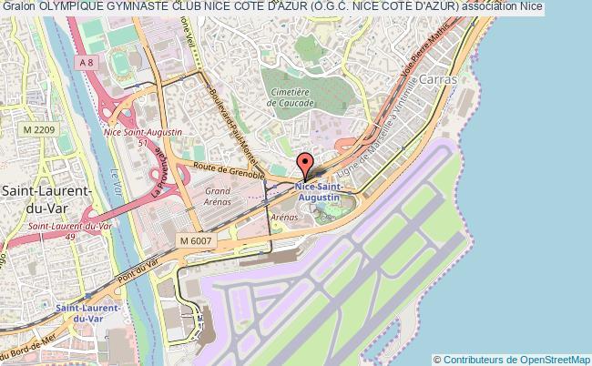 plan association Olympique Gymnaste Club Nice Cote D'azur (o.g.c. Nice Cote D'azur) Nice