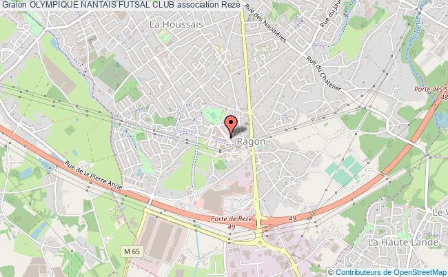 plan association Olympique Nantais Futsal Club