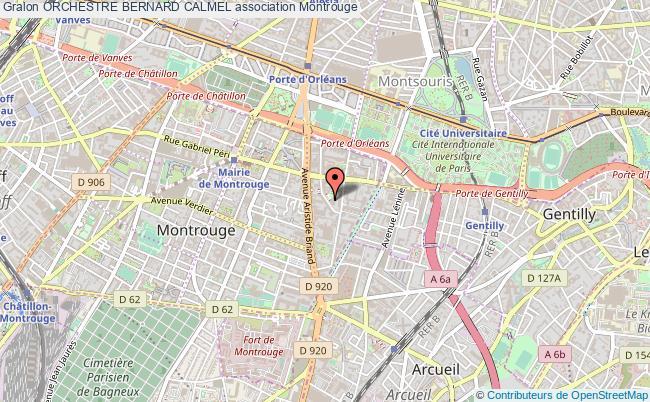 plan association Orchestre Bernard Calmel Montrouge