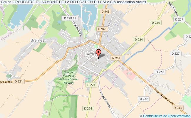 plan association Orchestre D'harmonie De La DÉlÉgation Du Calaisis