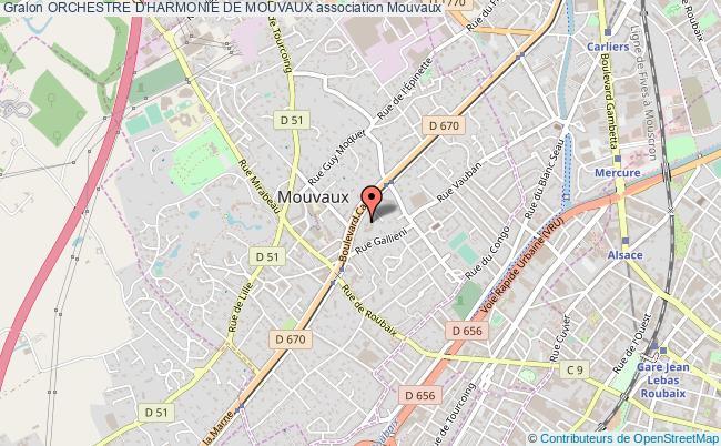 plan association Orchestre D'harmonie De Mouvaux