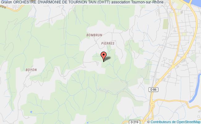 plan association Orchestre D'harmonie De Tournon Tain (ohtt)
