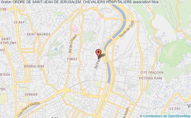plan association Ordre De Saint-jean De Jerusalem, Chevaliers Hospitaliers Nice