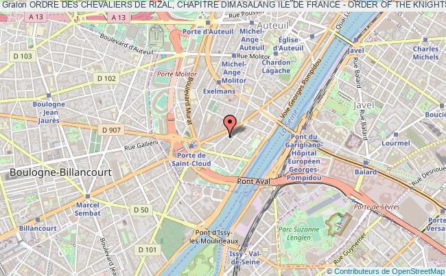 plan association Ordre Des Chevaliers De Rizal, Chapitre Dimasalang Ile De France - Order Of The Knights Of Rizal, Dimasalang Ile De France Chapter