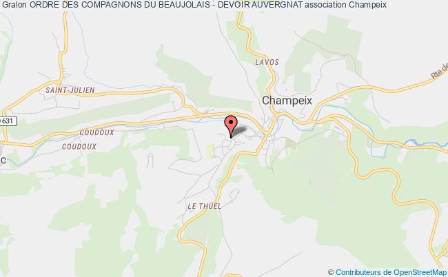 plan association Ordre Des Compagnons Du Beaujolais - Devoir Auvergnat