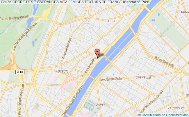 plan association Ordre Des Tisserandes Vita Feminea Textura De France