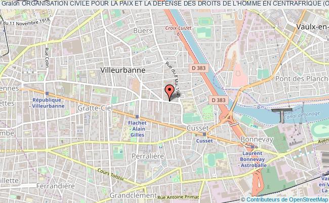 plan association Organisation Civile Pour La Paix Et La Defense Des Droits De L'homme En Centrafrique (ocpddhc)