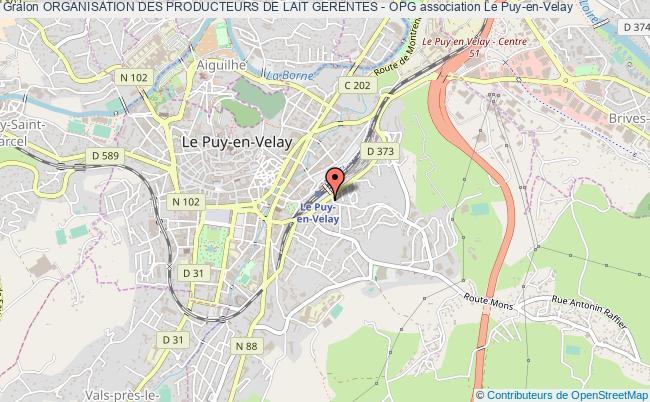 plan association Organisation Des Producteurs De Lait Gerentes - Opg Le Puy-en-Velay cedex