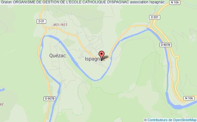 plan association Organisme De Gestion De L'ecole Catholique D'ispagnac