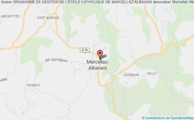plan association Organisme De Gestion De L'ecole Catholique De Marcellaz-albanais Marcellaz-Albanais