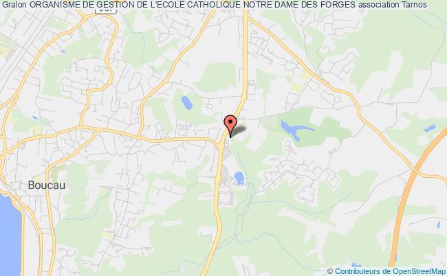 plan association Organisme De Gestion De L'ecole Catholique Notre Dame Des Forges