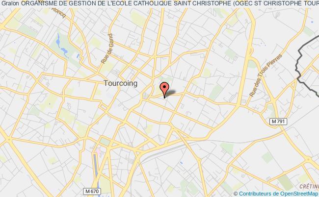 plan association Organisme De Gestion De L'ecole Catholique Saint Christophe (ogec St Christophe Tourcoing)