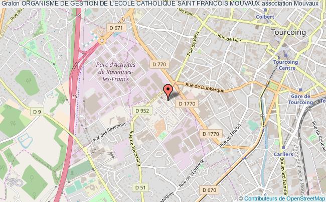 plan association Organisme De Gestion De L'ecole Catholique Saint Francois Mouvaux