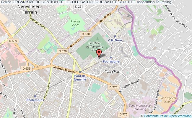 plan association Organisme De Gestion De L'ecole Catholique Sainte Clotilde
