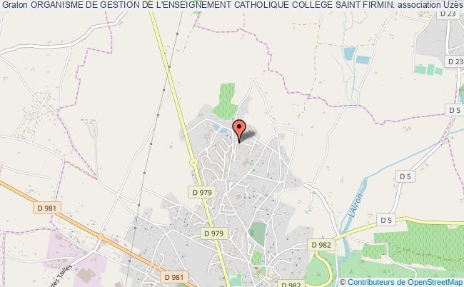 plan association Organisme De Gestion De L'enseignement Catholique College Saint Firmin. Uzès
