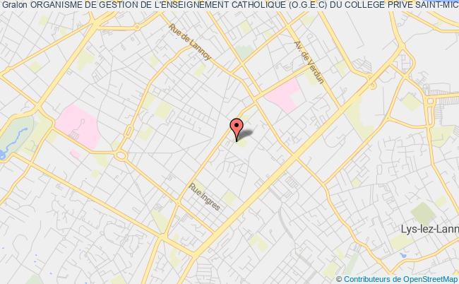 plan association Organisme De Gestion De L'enseignement Catholique (o.g.e.c) Du College Prive Saint-michel Roubaix