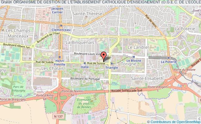 plan association Organisme De Gestion De L'etablissement Catholique D'enseignement (o.g.e.c. De L'ecole De Saint-armel De Rennes)