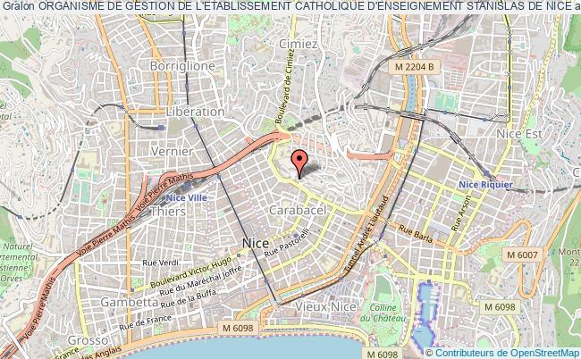plan association Organisme De Gestion De L'etablissement Catholique D'enseignement Stanislas De Nice