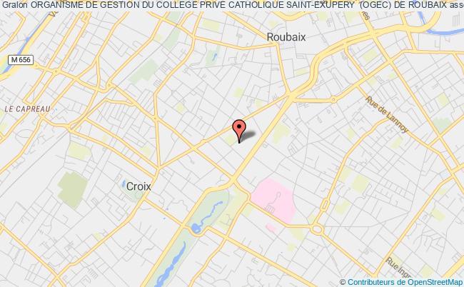 plan association Organisme De Gestion Du College Prive Catholique Saint-exupery  (ogec) De Roubaix Roubaix