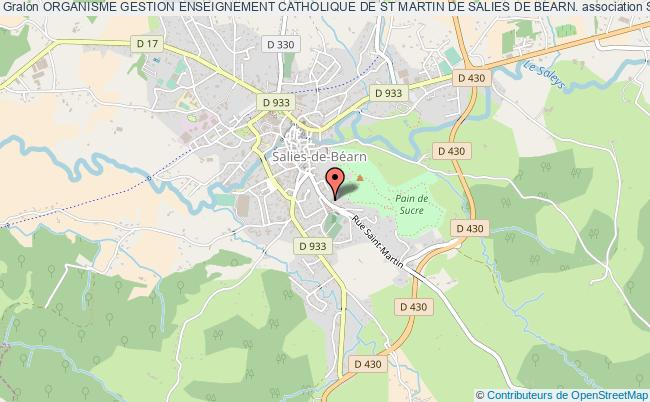 plan association Organisme Gestion Enseignement Catholique De St Martin De Salies De Bearn.