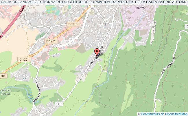 plan association Organisme Gestionnaire Du Centre De Formation D'apprentis De La Carrosserie Automobile Pour Le DÉpartement De La Haute-savoie Seynod