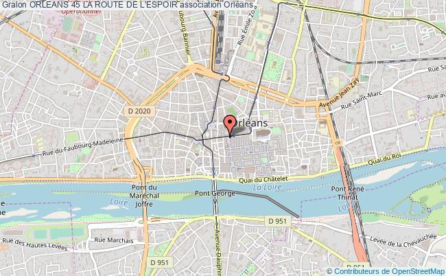 plan association Orleans 45 La Route De L'espoir