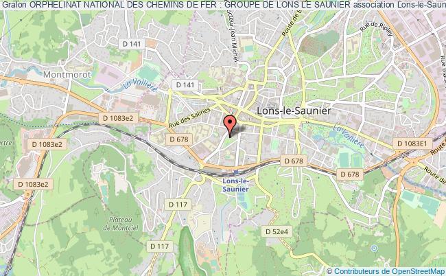 plan association Orphelinat National Des Chemins De Fer : Groupe De Lons Le Saunier