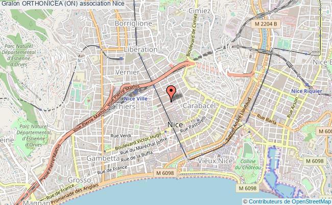 plan association Orthonicea (on) Nice