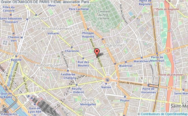 plan association Os Amigos De Paris 11eme