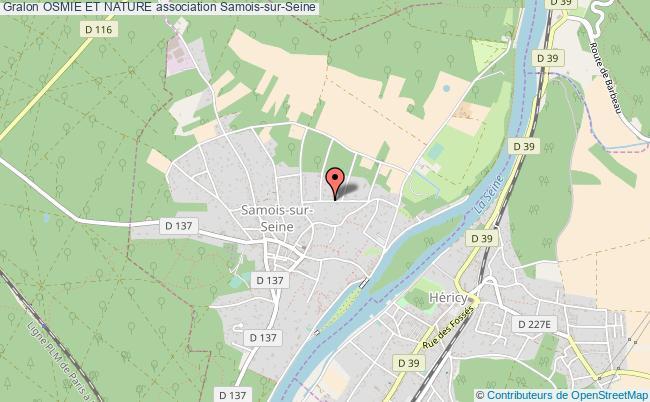 plan association Osmie Et Nature Samois-sur-Seine