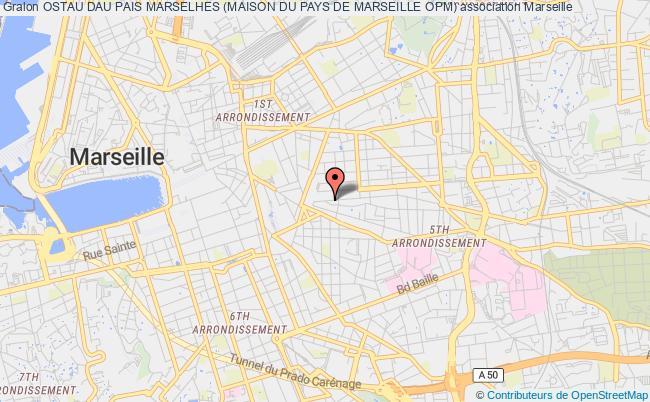 plan association Ostau Dau Pais Marselhes (maison Du Pays De Marseille Opm)