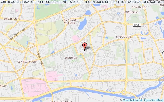 plan association Ouest Insa (ouest Etudes Scientifiques Et Techniques De L'institut National Des Sciences Appliquees De Rennes)