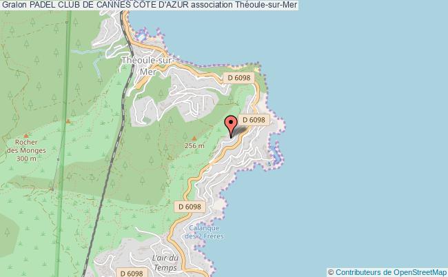 plan association Padel Club De Cannes CÔte D'azur