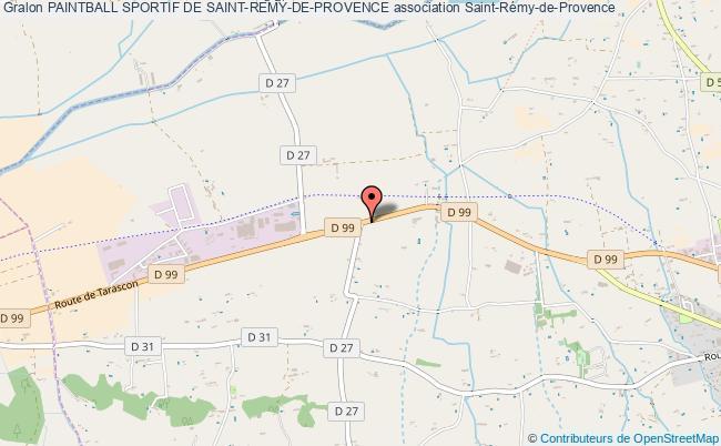 plan association Paintball Sportif De Saint-remy-de-provence
