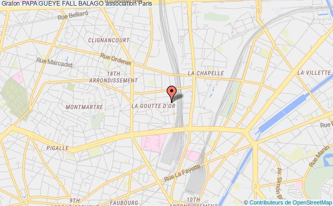 plan association Papa Gueye Fall Balago Paris