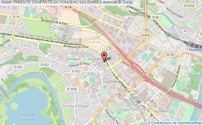 plan association Parents D'enfants Du Ponceau Solidaires Cergy
