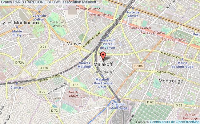 plan association Paris Hardcore Shows Malakoff