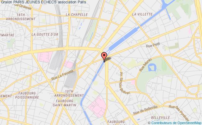 plan association Paris Jeunes Echecs
