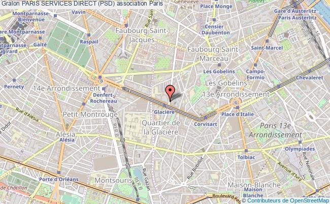 plan association Paris Services Direct (psd)