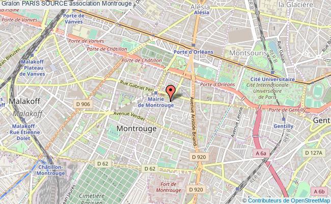 plan association Paris Source Montrouge