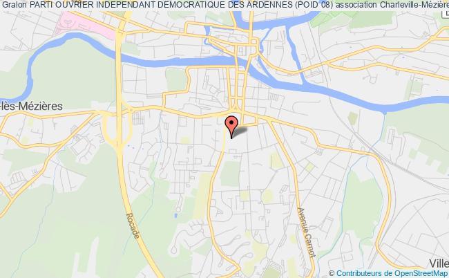 plan association Parti Ouvrier Independant Democratique Des Ardennes (poid 08)