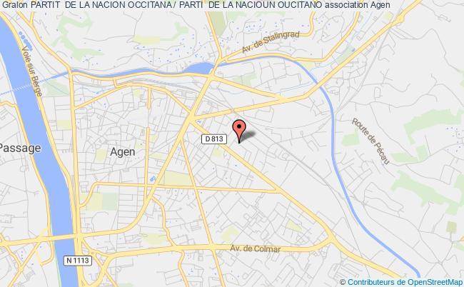 plan association Partit  De La Nacion Occitana / Parti  De La Nacioun Oucitano